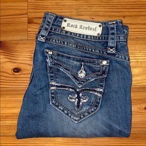 Rock Revival Gwen Easy Boot Jean, 29x34 *EUC* $188
